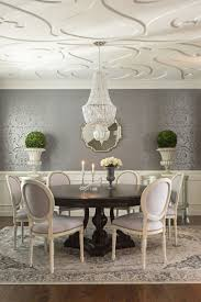 home design contemporary dining room with false ceiling and