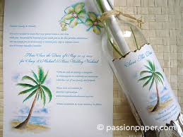wedding invitations in a bottle message in a bottle invitations unique starfish wedding