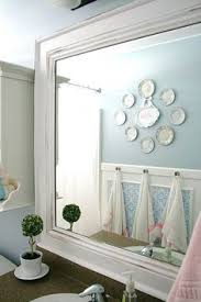 Diy Bathroom Mirror by Lowes Bathroom Mirror Frame Use Tape To Hold The Frame Corners
