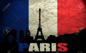 Paris Flag вид на париж на гранж французский флаг фотография картинки