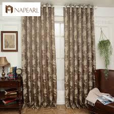 online get cheap decorative curtains brown aliexpress com brown semi blackout curtains blind luxury jacquard design fashion window treatments living room curtains