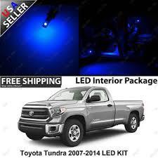 toyota tundra truck blue 12v interior led light bulb package set