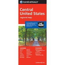 Road Map Of Southern Usa by Rand Mcnally Folded Map Central United States
