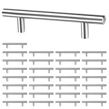 black t bar kitchen cupboard handles yescom 30 pack 6 kitchen cabinet door handles t bar brushed stainless steel 3 3 4 center cupboard drawer pulls walmart