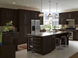 Flat Kitchen Cabinets Moderno Flat Panel Maple Cabinets In Espresso By Armstrong