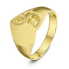 gold ring design theia heart shape engraved design heavy weight 9 ct yellow
