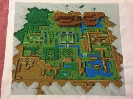 legend of zelda map with cheats epic legend of zelda cross stitch map neatorama