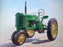 john deere tractor painting by hans droog