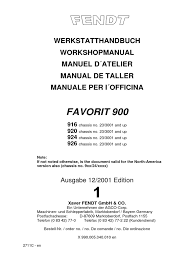 workshop manual fendt 900 vario transmission mechanics