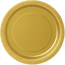 paper plates paper plates 9 in gold 16ct walmart