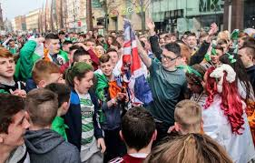 st s day struck with missile as revellers