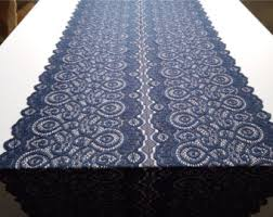 Navy Blue Table Runner Navy Lace Runner Table Runner 7 Wedding Table Runner