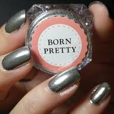 review of born pretty store silver mirror powder gel polish and