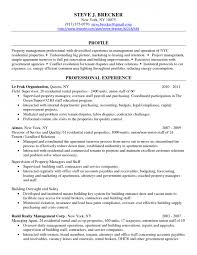Sample Resume For Property Manager by Co Op Resume Samples