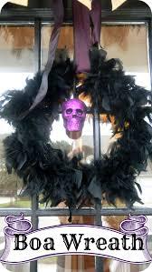 Scary Halloween Wreaths Feather Boa Halloween Wreath 2 Little Supeheroes2 Little Supeheroes