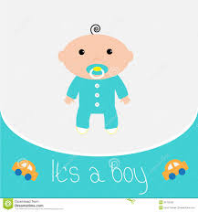 baby shower card its a boy stock photography image 36787082