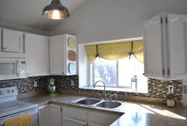 Curtains For Kitchen Window Above Sink Light Cabinets Traditional Farm Sink Window Treatments Curtains