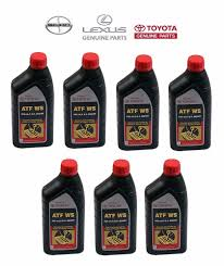 7 quart genuine toyota atf ws automatic transmission oil fluid