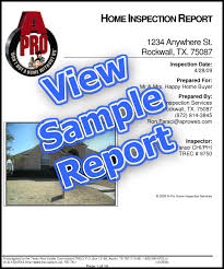 sample house inspection report certified home inspector home inspection services home