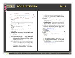 Resume Header Example by Resume Writing For Students And Freshers
