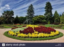 Botanical Gardens Niagara Falls Flower Beds In The Niagara Botanical Garden Garden Area