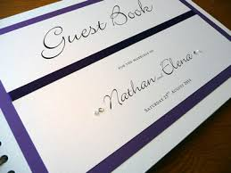 purple wedding guest book wedding guest books designs ideas and sles