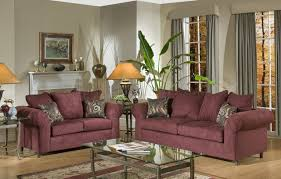 burgundy fabric traditional sofa u0026 loveseat set