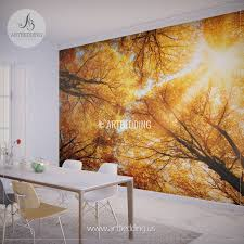 wall murals peel and stick self adhesive vinyl hd print tagged autumn treetop wall mural self adhesive peel stick photo mural forest wall mural