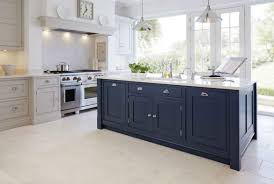 white kitchen cabinets with blue island 31 awesome blue kitchen cabinet ideas home remodeling