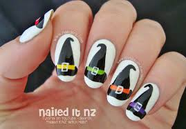 nailed it nz witch hat nail art for halloween http www