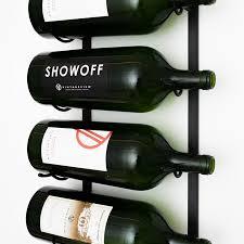 4 ft wall series metal wine rack 12 to 36 bottles vintageview