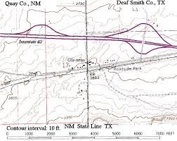 The Ghost Map Off The Map Ghost Towns Of The Mother Road U2013 Glenrio Texas And