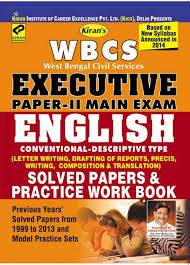 buy wbcs executive paper 2 main exam solved papers u0026 practice work