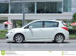 nissan thailand private car nissan tiida editorial stock photo image 61499043