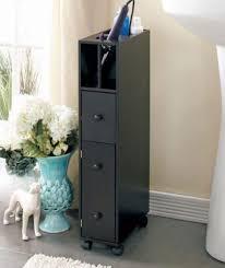 Thin Bathroom Cabinet by Bathroom Cabinet Storage Slim Rolling Cart Organizer Caddy Shelves