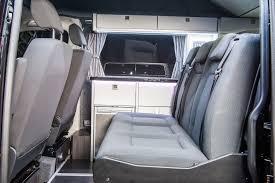 volkswagen van 2016 interior sliding seat system vw t5 camper conversion company volksleisure