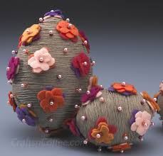 styrofoam easter eggs more twine how to wrap up twine easter eggs crafts n coffee