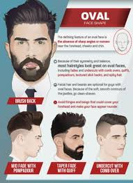 haircuts for men with oval shaped faces top 6 best men s haircuts by face shape infographic humble rich