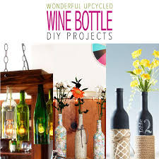 Wine Bottle Home Decor Diy Wine Bottle Home Decor Projects Archives The Cottage Market