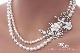 pearl necklace accessories images Pearl bridal necklace statement wedding necklace pearl necklace jpg