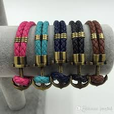 anchor braid bracelet images Men wrist jewelry for sale vintage brass anchor braid leather jpg