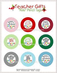 freebie teacher christmas gift rolo pencils w tags pinnutty com