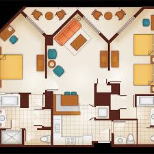 floor plan of a 1 bedroom villa