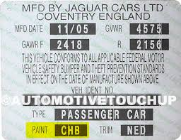 jaguar paint code locations touch up paint automotivetouchup
