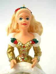 amazon com barbie in gold christmas gown hallmark holiday