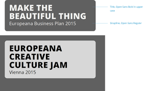 design assets logos fonts colours and styling europeana