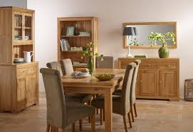Oak Dining Room Bevel Solid Oak Dining Room Transitional Dining Room