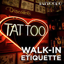 tattoo parlor walk in etiquette tattoodo