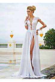 long tea length and short white prom dresses on sale at sherry