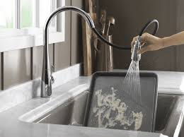 new faucet spray kohler simplice with sweep spray